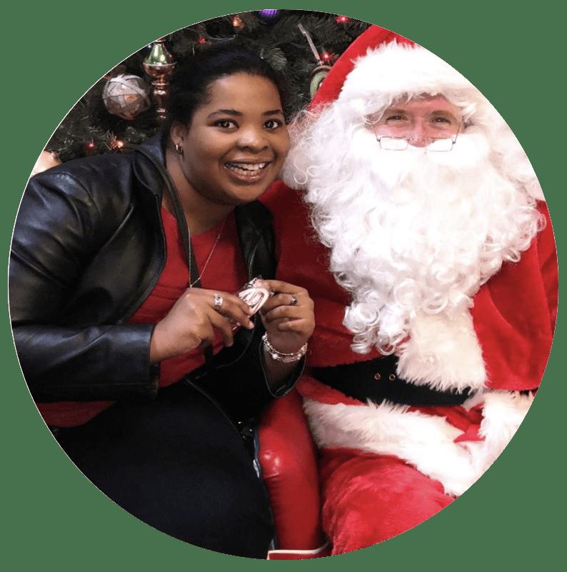 Lexi with Santa